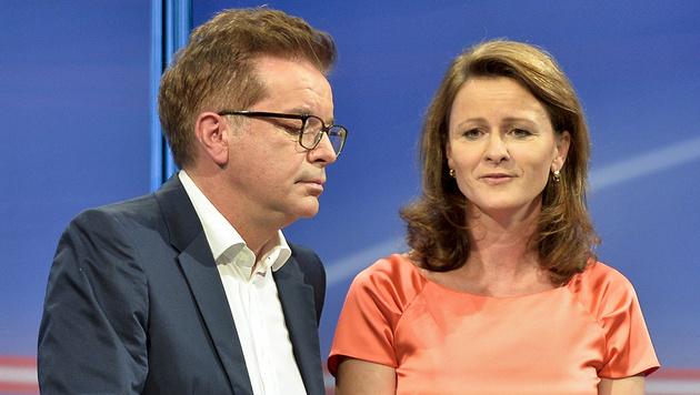 Rudi Anschober, Judith Raab (Bild: APA/Herbert Neubauer)