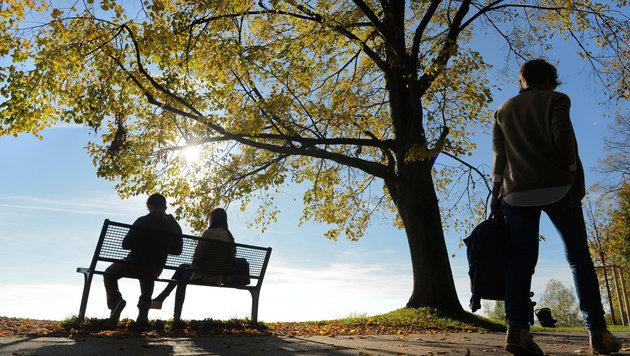Strahlendes Herbstwetter bleibt uns erhalten (Bild: dpa/Felix Kästle)