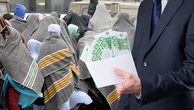 Spenden für Flüchtlinge in eigene Tasche gesteckt (Bild: APA/ROLAND SCHLAGER, thinkstockphotos.de)