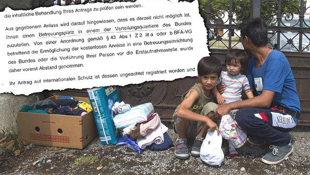Flüchtlinge: Aufnahme in Verteilzentren gestoppt (Bild: AFP, BFA)