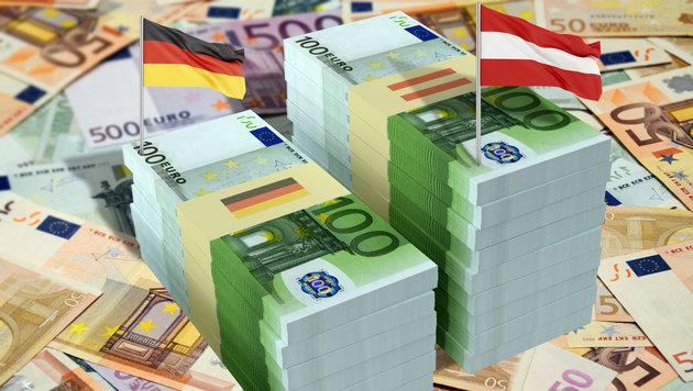 Österreicher haben mehr Geld als Deutsche (Bild: thinkstockphotos.de)
