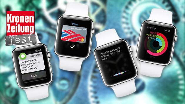 Spielerei für iPhone-Junkies: Apple Watch im Test (Bild: Apple, thinkstockphotos.de)
