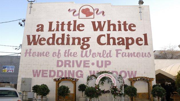 """Die """"Little White Wedding Chapel"""" in Las Vegas beschert nicht unbedingt die ewige Liebe. (Bild: Viennareport)"""