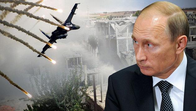 Putin ordnet Feuerpause für Aleppo an (Bild: AP, Yuri Kadobnov/EPA/picturedesk.com, AFP)