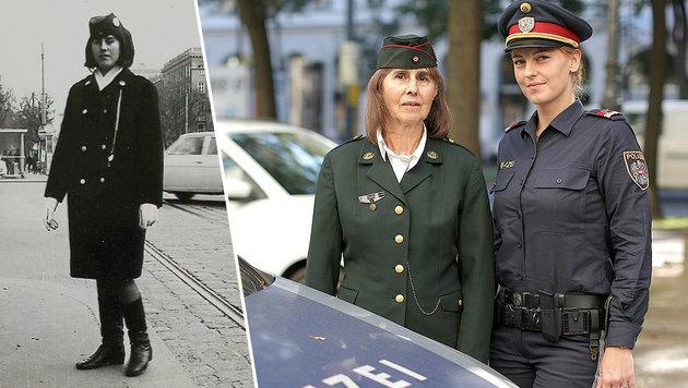 Polizei einst und jetzt: Junge Beamtinnen lauschten am Donnerstag den Erzählungen ihrer Kolleginnen. (Bild: Gerhard Bartel)