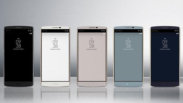 LG V10: Handy mit Zweitdisplay und Doppel-Frontcam (Bild: LG)