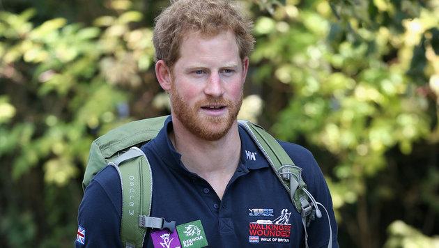 """Prinz Harry unterstützt die Organisation """"Walking With The Wounded"""", die verwundeten Soldaten hilft. (Bild: AP)"""
