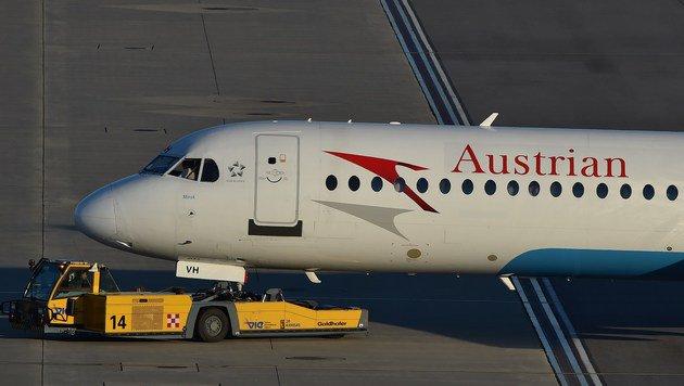 AUA-Maschine kehrte nach Schwechat zurück (Bild: Patrick Huber (Symbolbild))