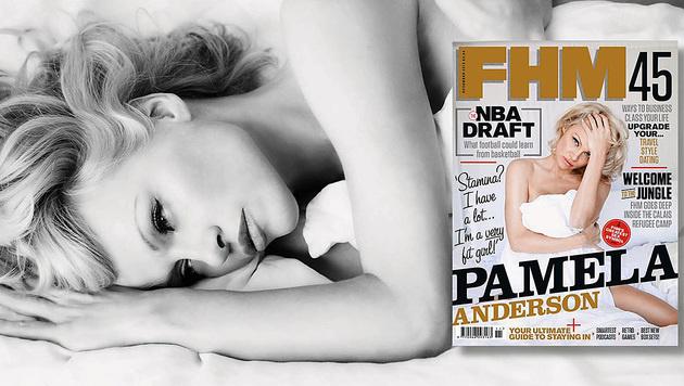 """Pamela Anderson ist im neuen """"FHM"""" zu sehen. (Bild: facebook.com/fhm)"""