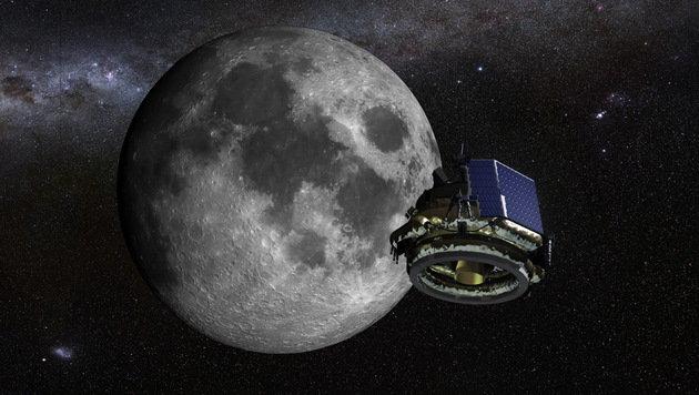Illustration: Der Lander MX-1 beim Anflug auf den Erdtrabanten (Bild: Moon Express)