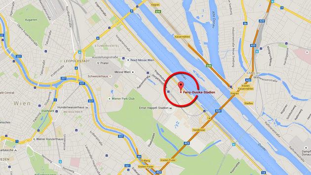 In dem Flüchtlingsheim in der Leopoldstadt wurde die Krankheit erstmals diagnostiziert. (Bild: maps.google.at)