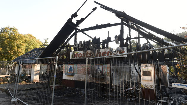 Wien: Fünf verkohlte Leichen nach Brand entdeckt (Bild: APA/HERBERT P.OCZERET)