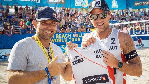 Alexander Horst (rechts) mit Hannes Arch (Bild: BeachMajors/Steinthaler)