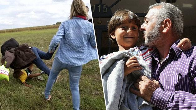 "Getretener Flüchtling: ""Sind euch ewig dankbar"" (Bild: APA/EPA/MARISCAL)"