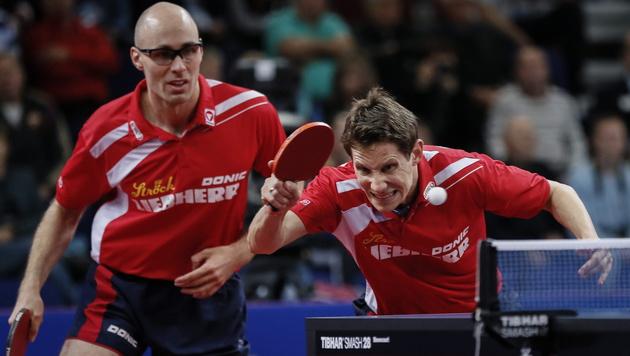 Gold für Österreich! Beide Doppel im EM-Finale (Bild: APA/EPA/SERGEI ILNITSKY)