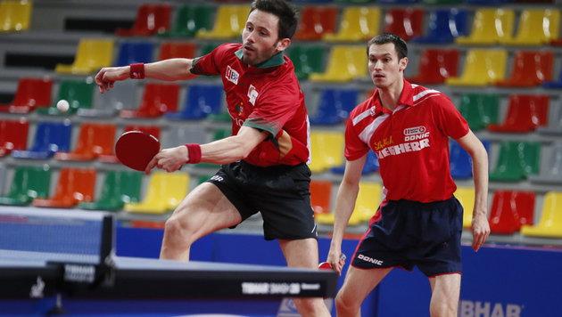 Monteiro und Fegerl (re.) stehen ebenfalls im Endspiel (Bild: APA/EPA/SERGEI ILNITSKY)