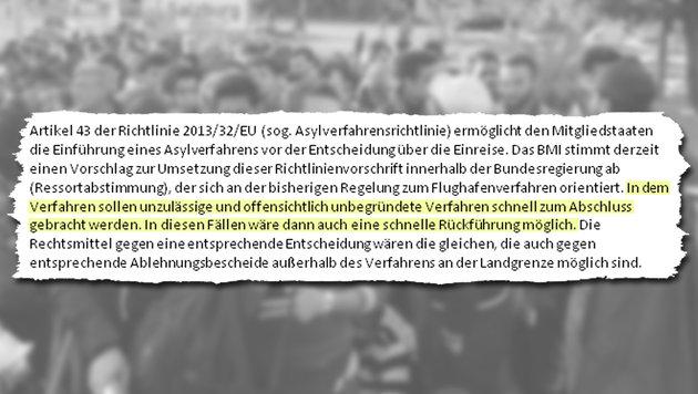 Deutschland schickt uns Tausende Migranten zur�ck (Bild: APA/BARBARA GINDL, Krone)