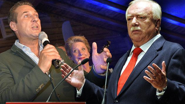 FPÖ-Chef Strache beendet rot-blaue Fantasien (Bild: APA/HANS PUNZ, APA/HERBERT PFARRHOFER)