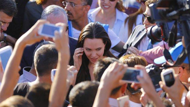 Angelina Jolie besucht ein Flüchtlingscamp in der Türkei. (Bild: Viennareport)