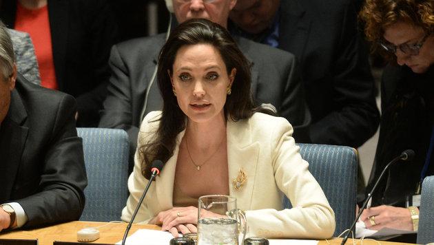 Angelina Jolie spricht vor den Vereinten Nationen über die Flüchtlingskrise. (Bild: Viennareport)