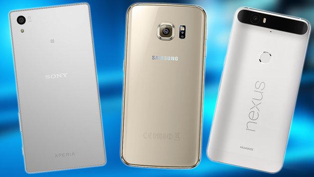 Das sind die zehn besten Foto-Smartphones (Bild: thinkstockphotos.de, Google, Sony, Samsung)
