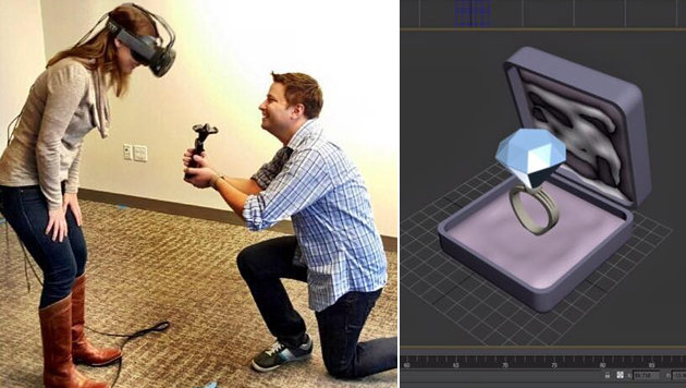 Erster Heiratsantrag in der virtuellen Realität (Bild: facebook.com/kelly.tortorice)