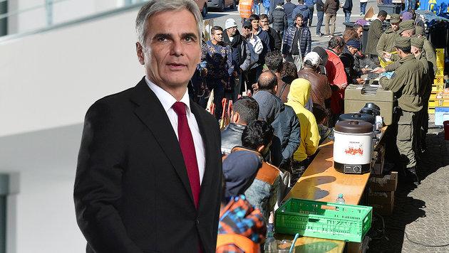 """Faymann: """"Kapitäne haben Schiff unter Kontrolle"""" (Bild: AFP, APA/BARBARA GINDL)"""