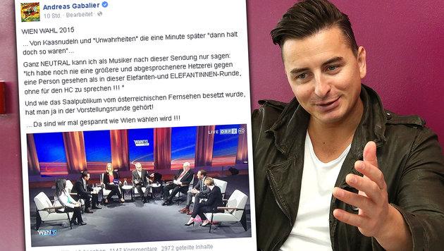 """Gabalier sauer: """"Widme mich wieder der Lederhose"""" (Bild: Chris Koller, facebook.com)"""