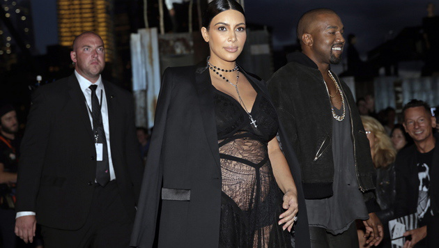 Kim Kardashian und Kanye West (Bild: APA/EPA/PETER FOLEY)