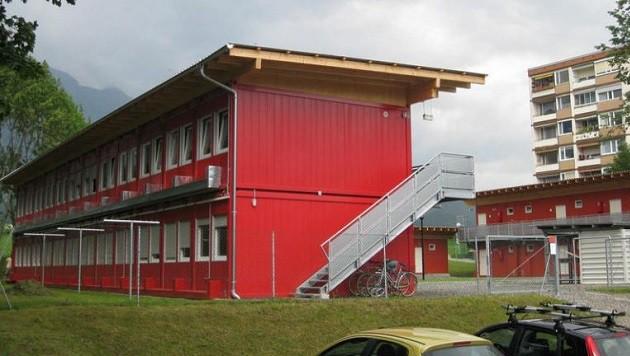 """Derzeit entstehen österreichweit Containerdörfer für Flüchtlinge (hier in Tirol). (Bild: """"Krone"""")"""