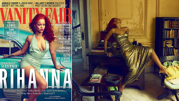 "Rihanna ist das Cover-Girl der aktuellen ""Vanity Fair"". (Bild: instagram.com/vanityfair)"