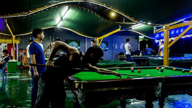 Ihre wenige Freizeit verbringen sie in Spielhallen am Firmengelände. (Bild: danwatch.dk)
