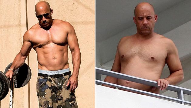 Statt Waschbrettbauch trägt Vin Diesel derzeit lieber Wampe. (Bild: Viennareport, splash news)