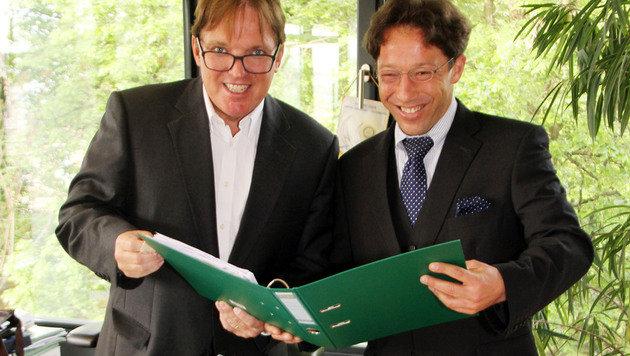 Die Juristen Harald Christandl und Jochen Eberhard (Bild: Christian Jauschowetz)