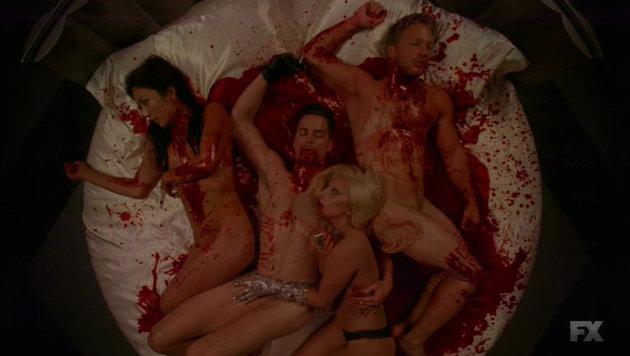 """Lady Gaga sorgt in """"American Horror Story Hotel"""" für ein Sexgemetzel. (Bild: Viennareport)"""