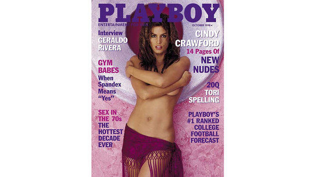 "Cindy Crawford am Cover des ""Playboy"" (Bild: AFP)"