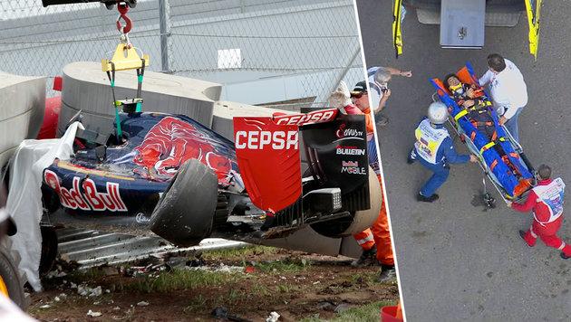 Formel-1-Schock! Carlos Sainz kracht in Mauer (Bild: AP, twitter.com)