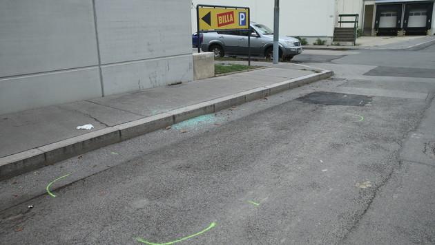 Hier war das Auto abgestellt. (Bild: Peter Tomschi)