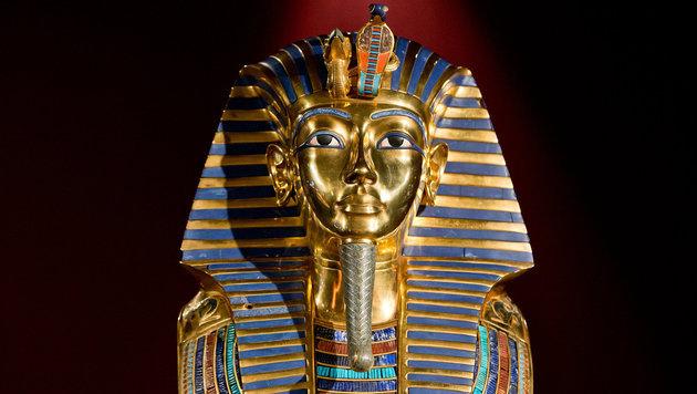 Die berühmte Totenmaske des Kind-Pharaos Tutenchamun (Bild: APA/dpa/Daniel Karmann)