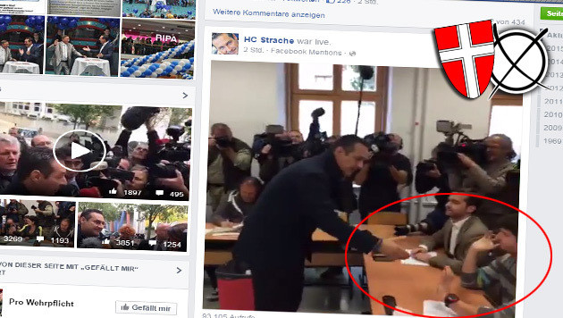 Ein Wahlhelfer verweigerte FPÖ-Chef Strache beim Urnengang in Wien den Handschlag. (Bild: Facebook.com)