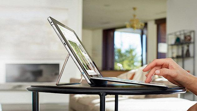 Das neue Spectre x2 von HP sieht ein wenig aus wie ein Surface mit modifiziertem Ständer. (Bild: HP)
