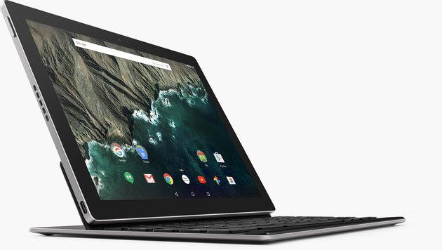 Google schickt mit dem Pixel C ein Android-Tablet mit Andock-Tastatur ins Rennen. (Bild: Google)