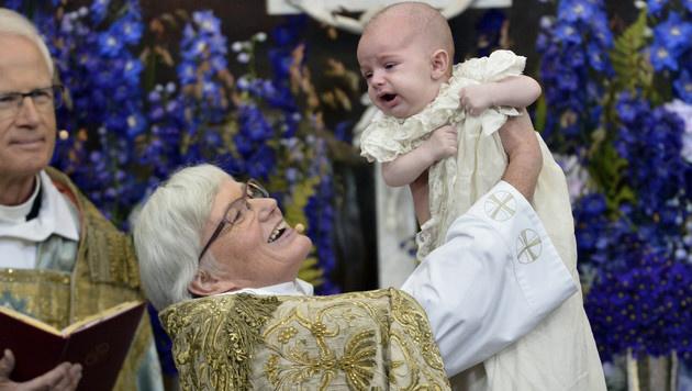 Prinz Nicolas wurde getauft. (Bild: AP)