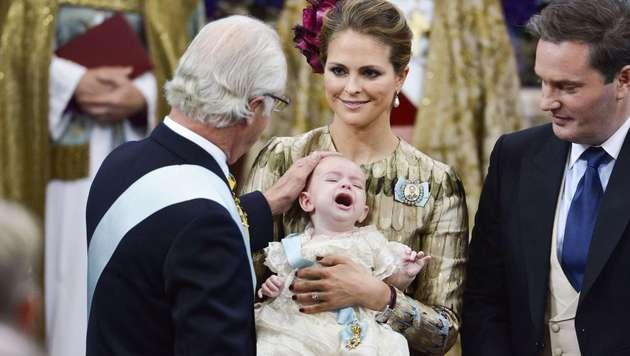 Prinz Nicolas schrie bei seiner Taufe wie am Spieß. (Bild: Claudio Bresciani/TT)