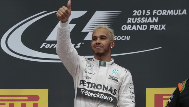 So wird Lewis Hamilton schon in Austin Weltmeister (Bild: AP)