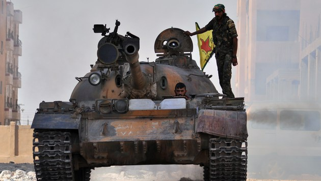Die kurdischen Gebiete in Nordsyrien werden von den Volksverteidigungseinheiten geschützt. (Bild: AFP)