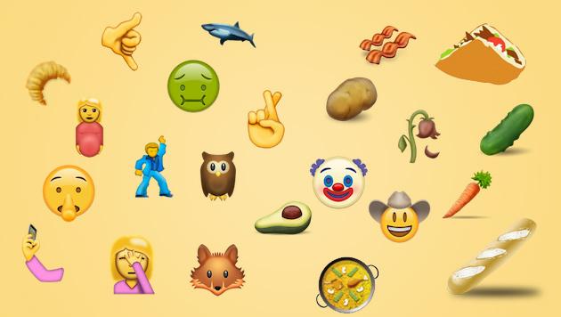 Döner, Ekel-Smiley und Co stehen zur Emoji-Wahl (Bild: unicode.org)
