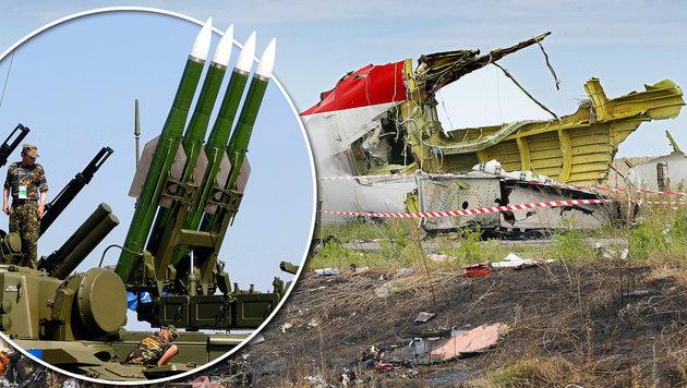 Passagierflug MH17 mit Russen-Rakete abgeschossen (Bild: APA/EPA/ROBERT GHEMENT, APA/EPA/YURI KOCHETKOV)