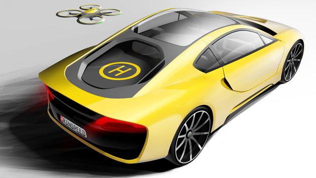 Robo-Sportwagen mit Drohnen-Compagnon kommt (Bild: Rinspeed)