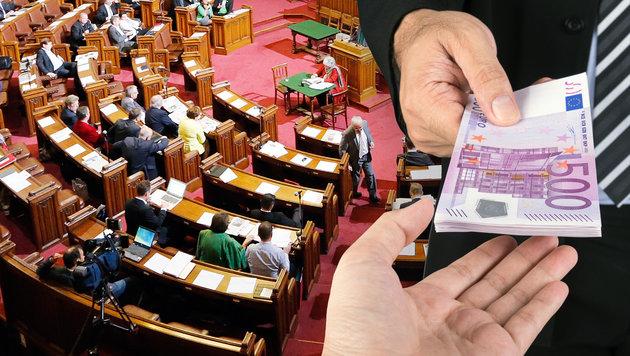 Was die Politiker in Wien pro Monat verdienen (Bild: zwefo, thinkstockphotos.de)